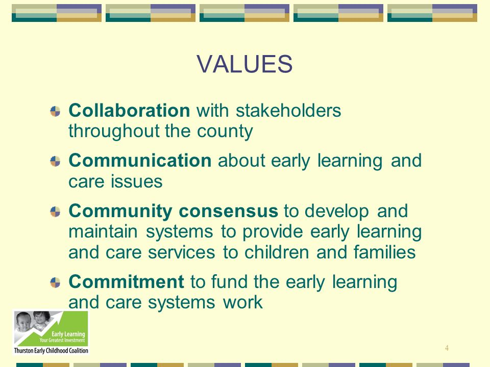 VALUES Collaboration with stakeholders throughout the county