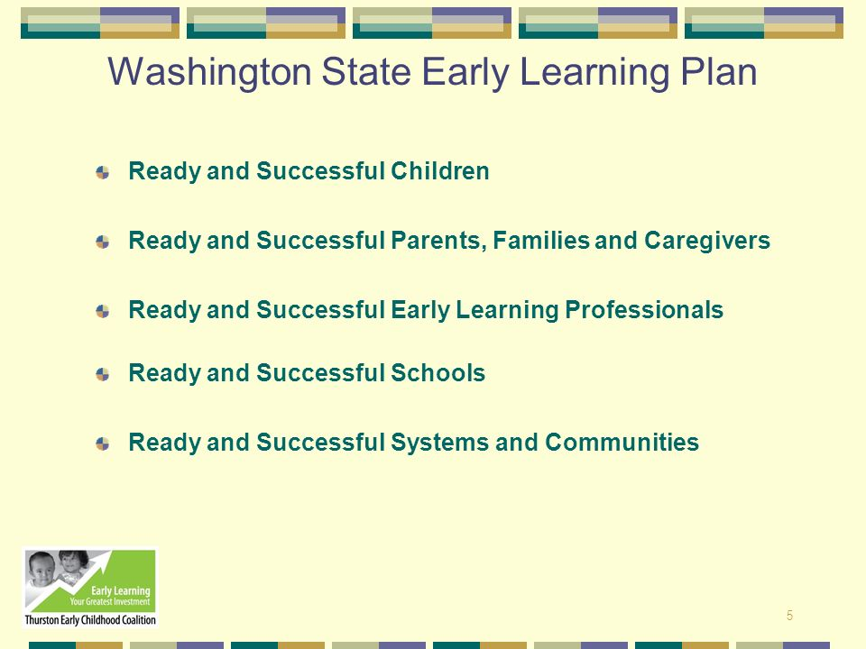 Washington State Early Learning Plan