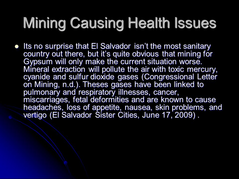 Mining Causing Health Issues