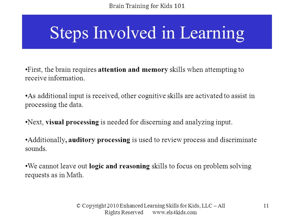 Steps Involved in Learning