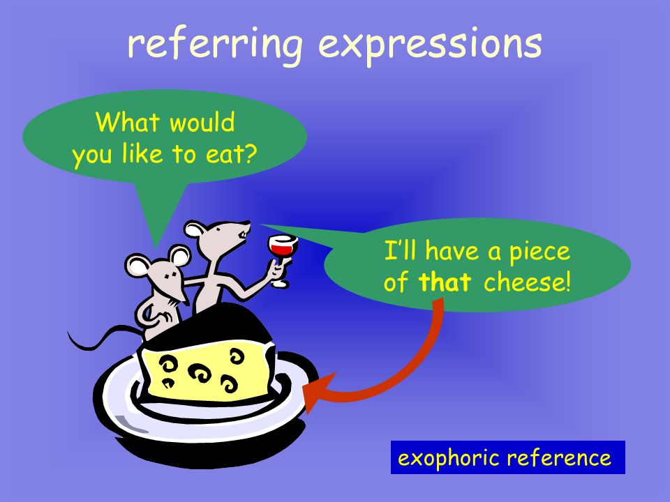 referring expressions