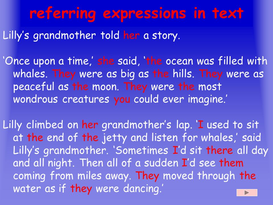 referring expressions in text