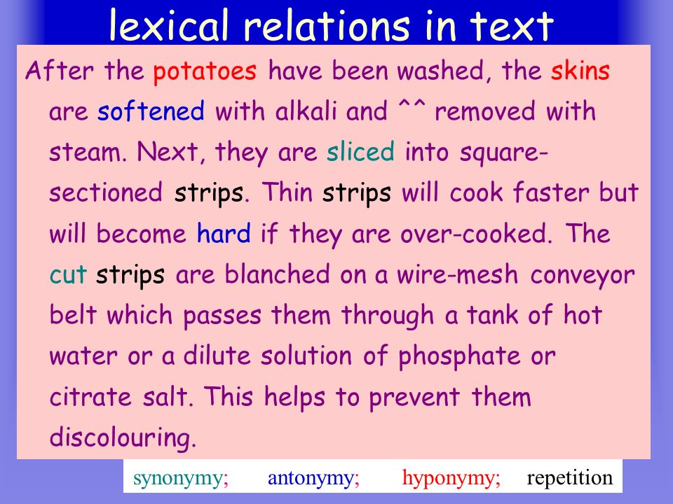 lexical relations in text