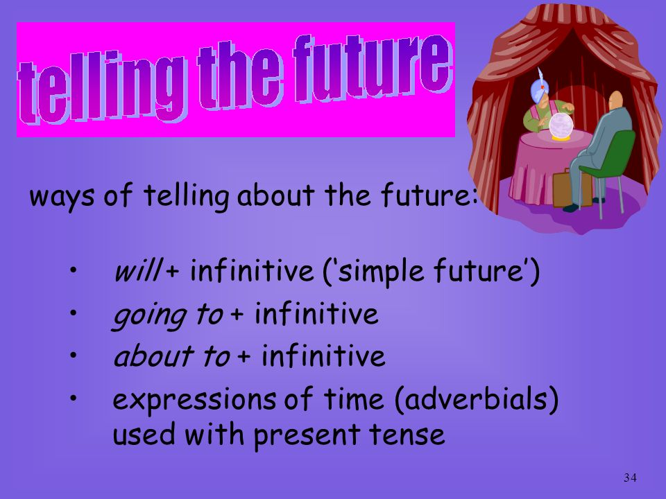 ways of telling about the future: