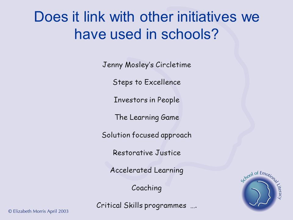 Does it link with other initiatives we have used in schools