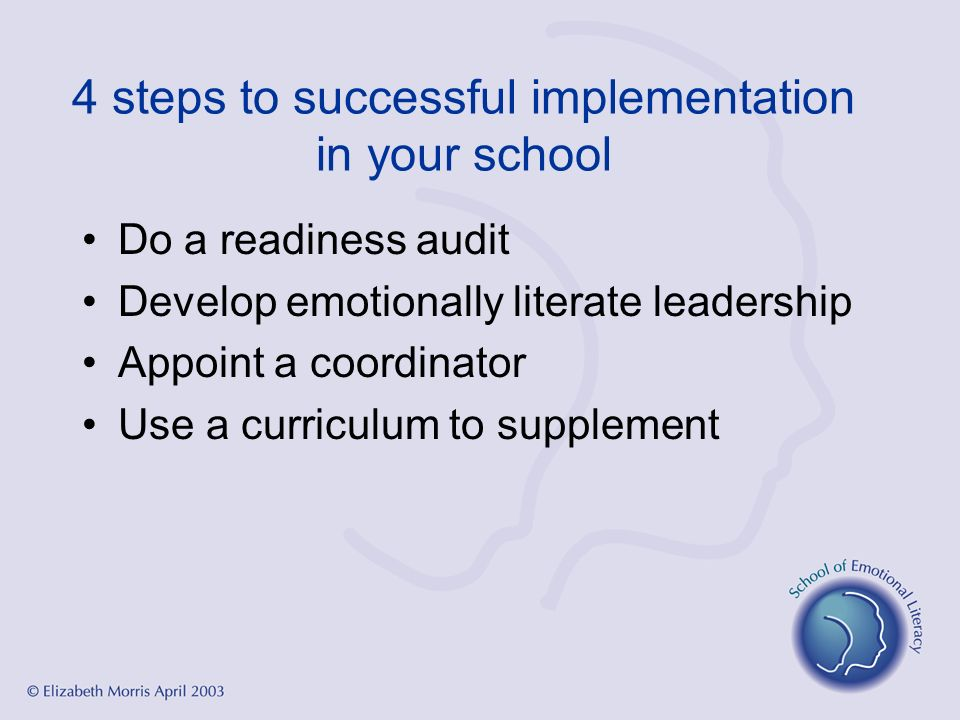 4 steps to successful implementation in your school