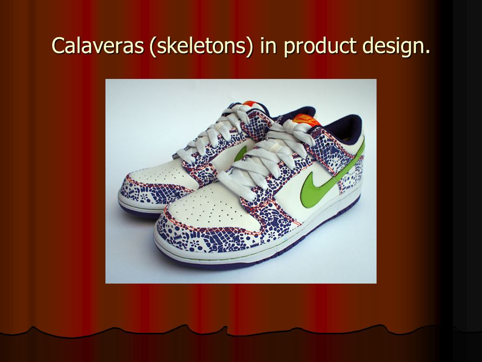 Calaveras (skeletons) in product design.
