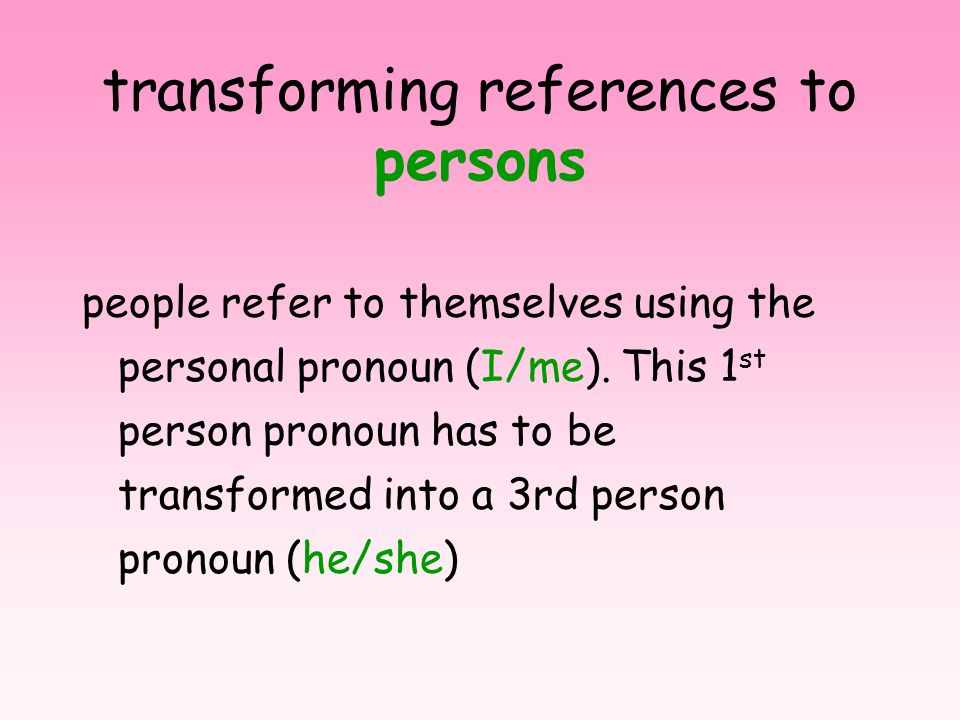 transforming references to persons