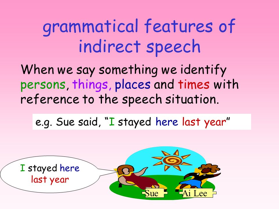 grammatical features of indirect speech