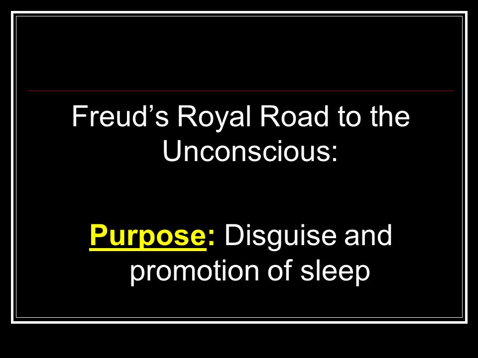 Freud's Royal Road to the Unconscious: