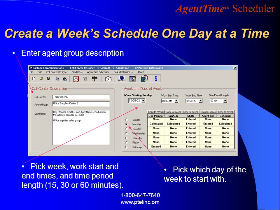Create a Week's Schedule One Day at a Time