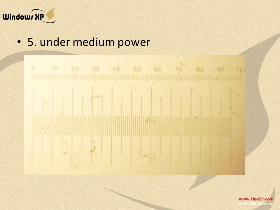 5. under medium power