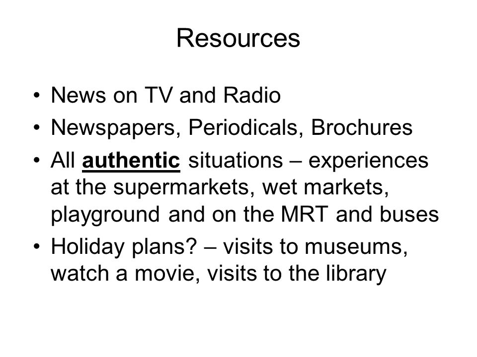 Resources News on TV and Radio Newspapers, Periodicals, Brochures