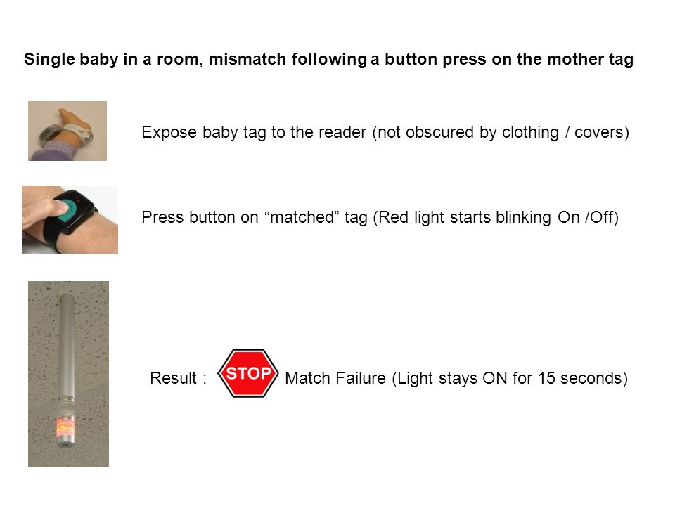 Expose baby tag to the reader (not obscured by clothing / covers)