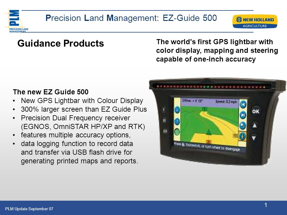 Guidance Products Precision Land Management: EZ-Guide 500