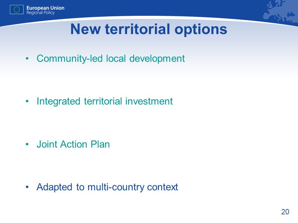 New territorial options