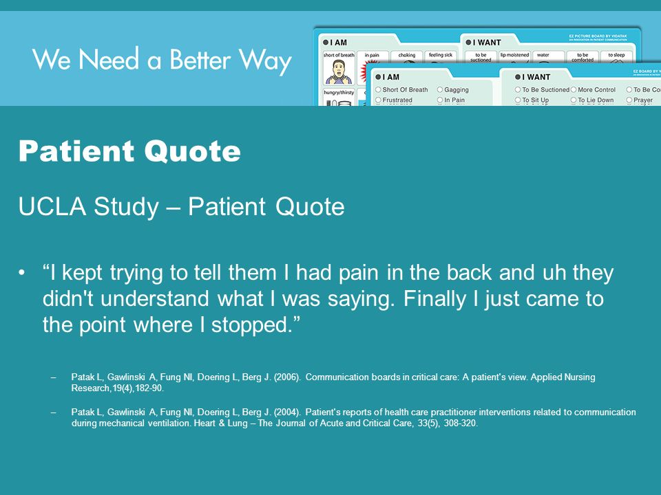 Patient Quote UCLA Study – Patient Quote