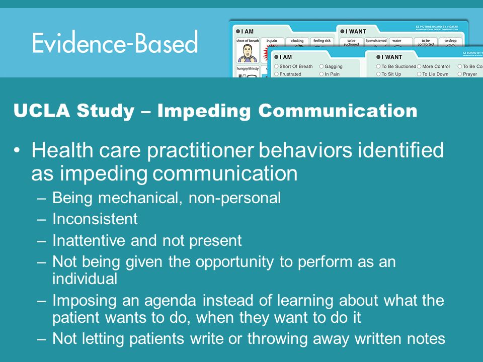 UCLA Study – Impeding Communication