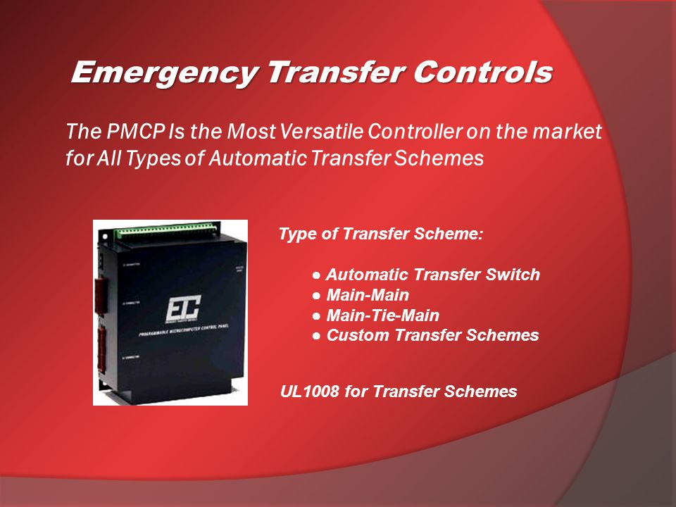 Emergency transfer controls ppt video online download.