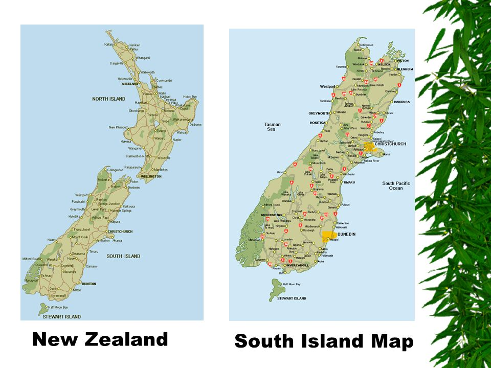 New Zealand South Island Map