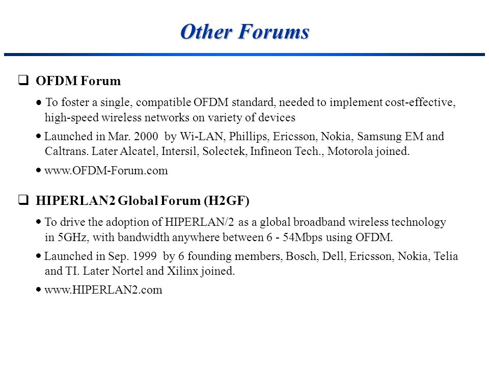 Other Forums OFDM Forum