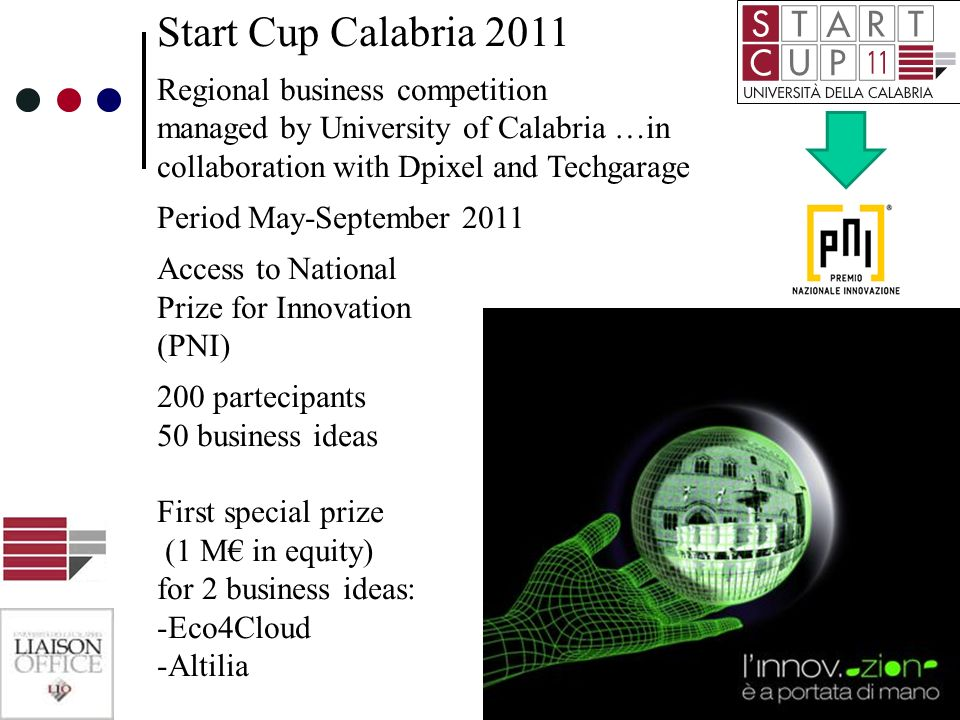 Start Cup Calabria 2011 Regional business competition