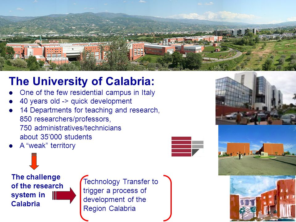 The University of Calabria: