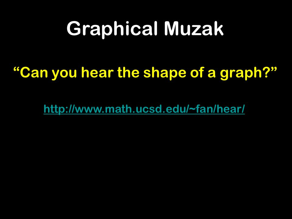 Can you hear the shape of a graph