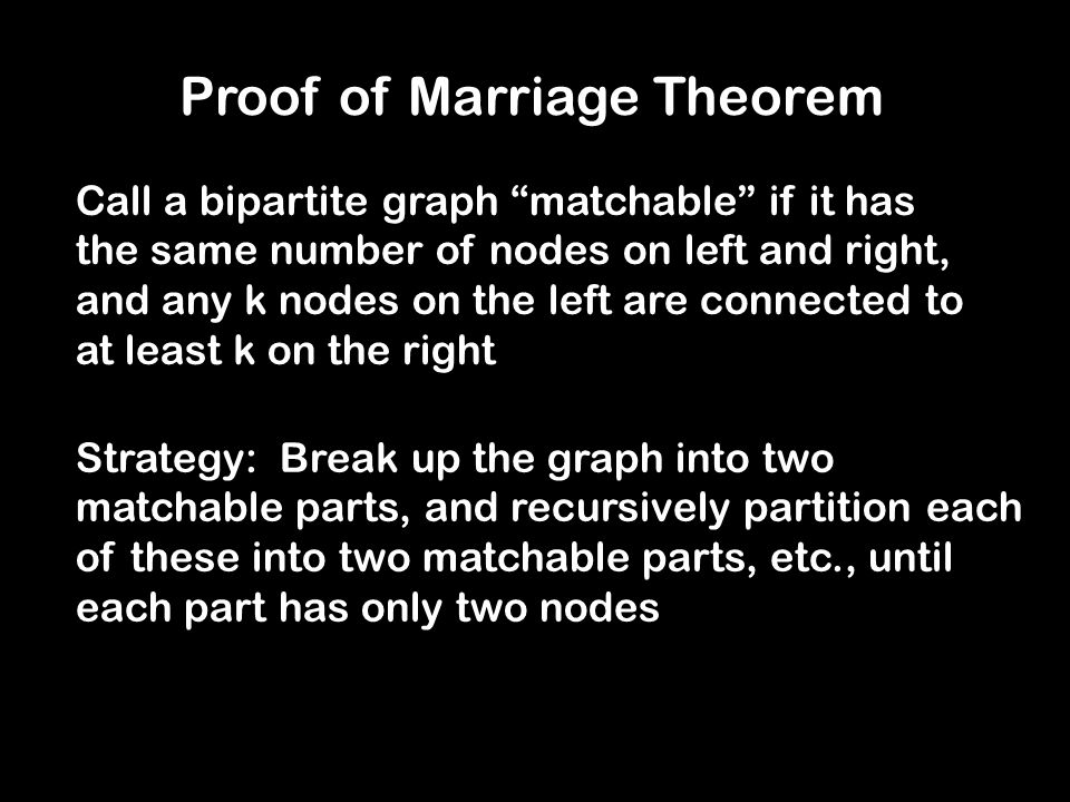 Proof of Marriage Theorem