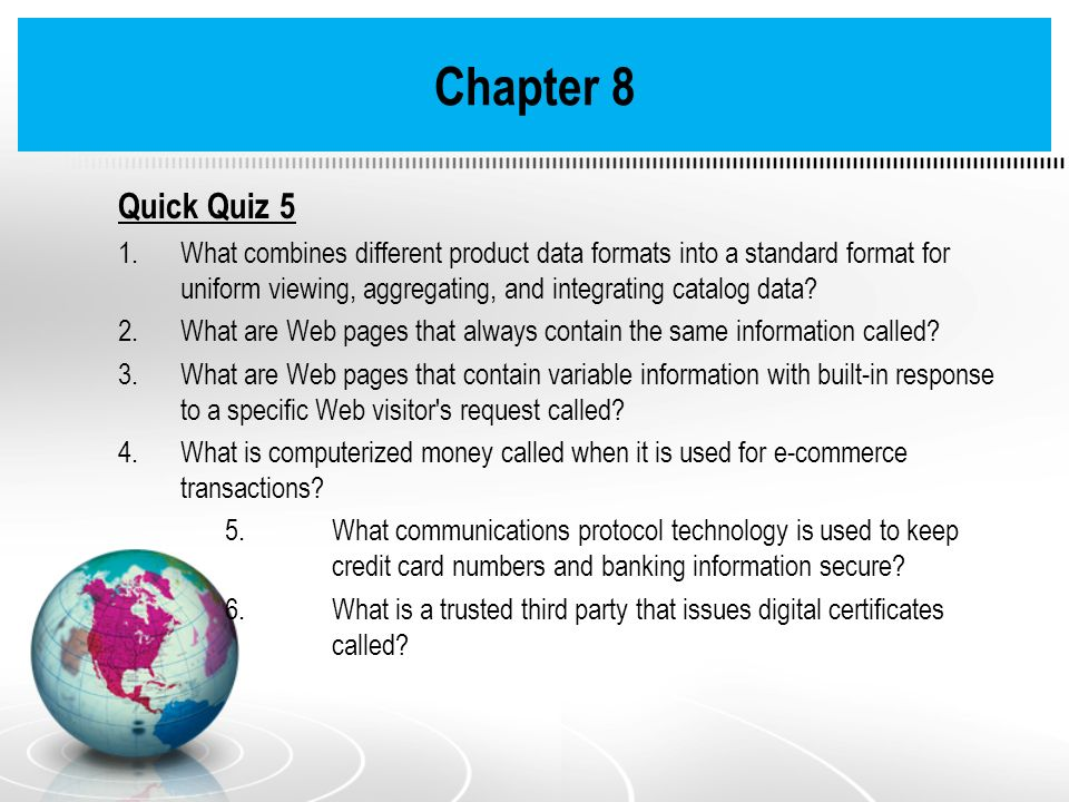 Chapter 8 Quick Quiz 5.
