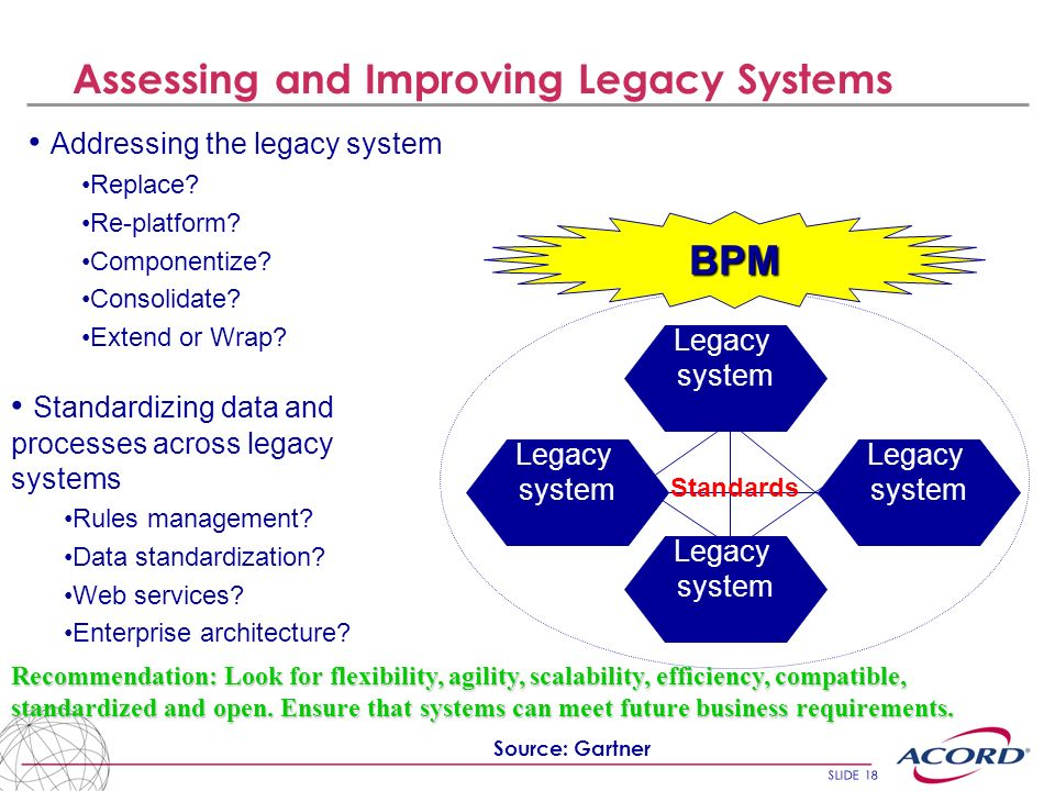 Assessing and Improving Legacy Systems