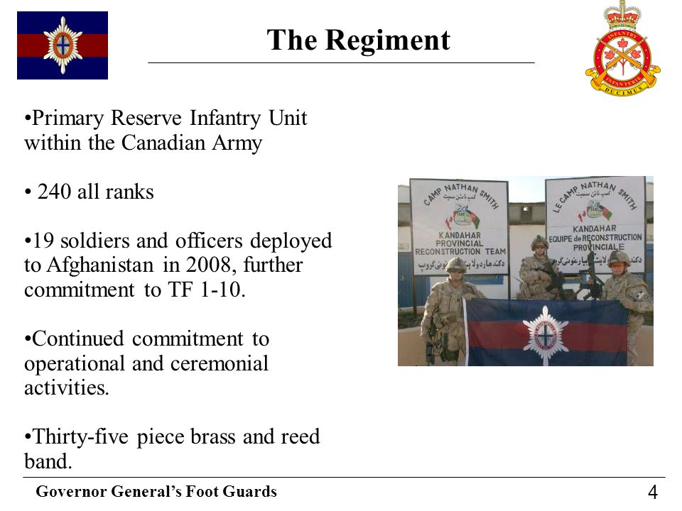The Regiment Primary Reserve Infantry Unit within the Canadian Army