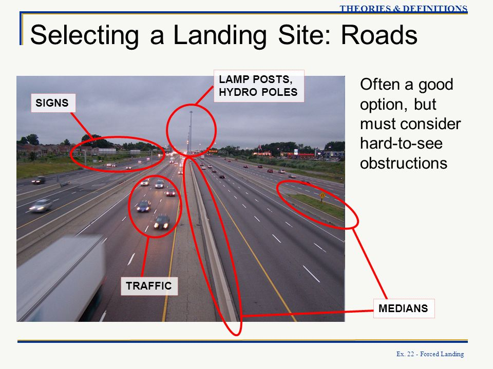Selecting a Landing Site: Roads