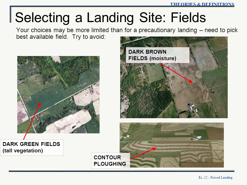 Selecting a Landing Site: Fields