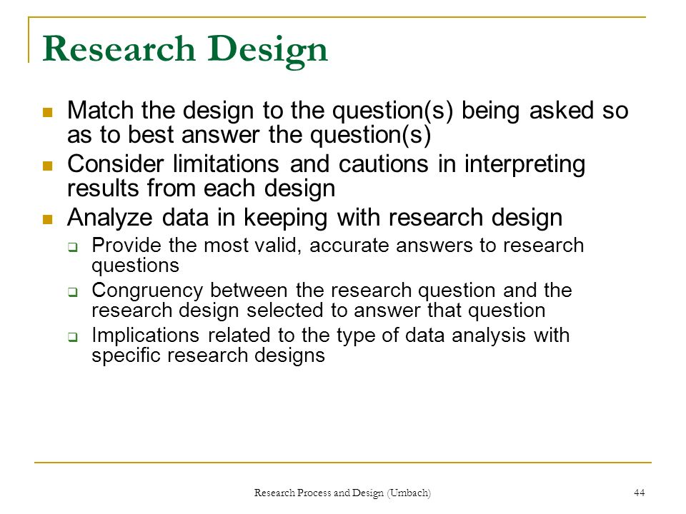 Research Process and Design (Umbach)