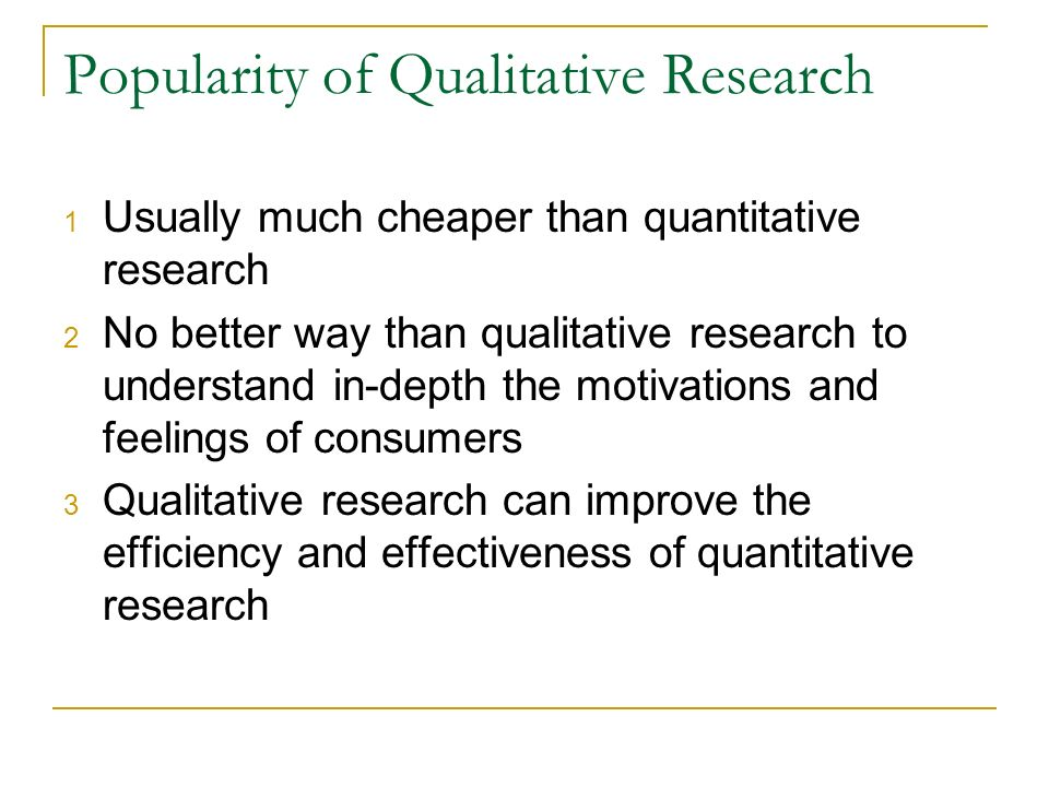 Popularity of Qualitative Research