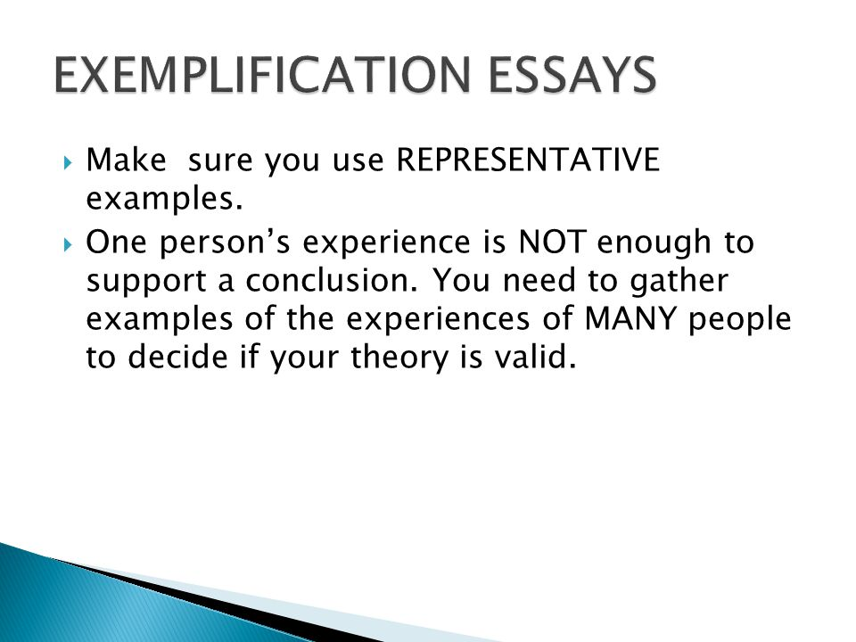 exemplification essay about a person