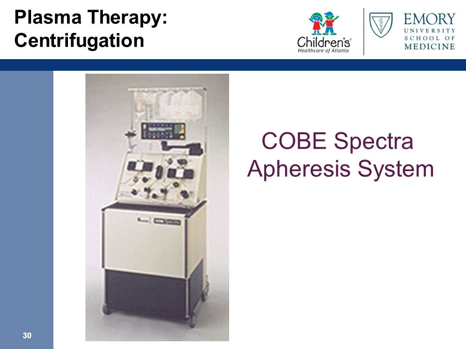 Plasma Therapy: Centrifugation