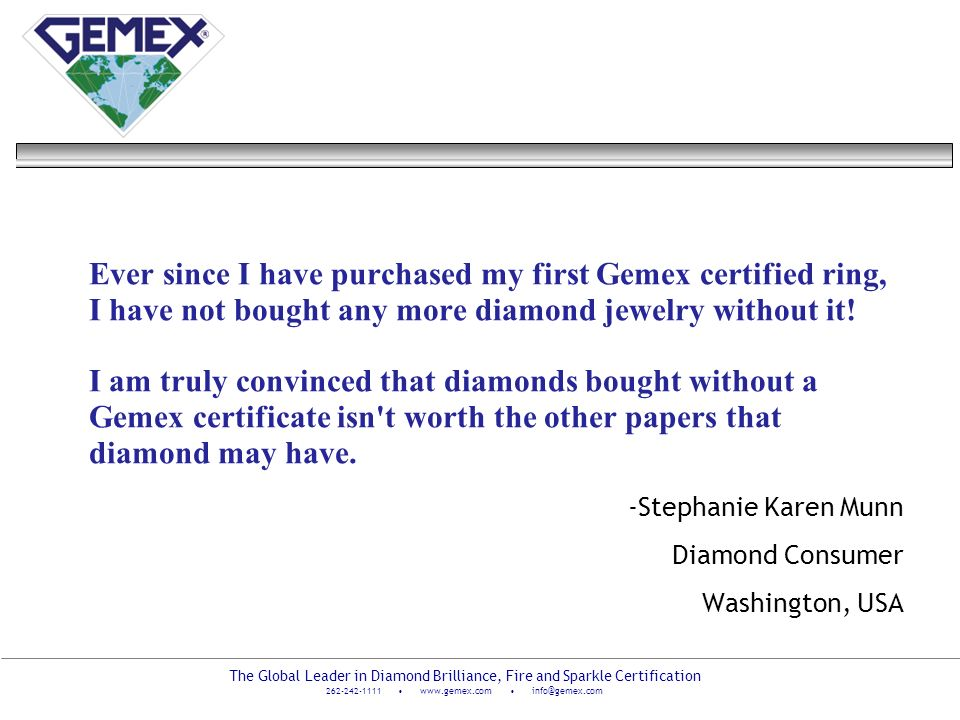 -Stephanie Karen Munn Diamond Consumer Washington, USA