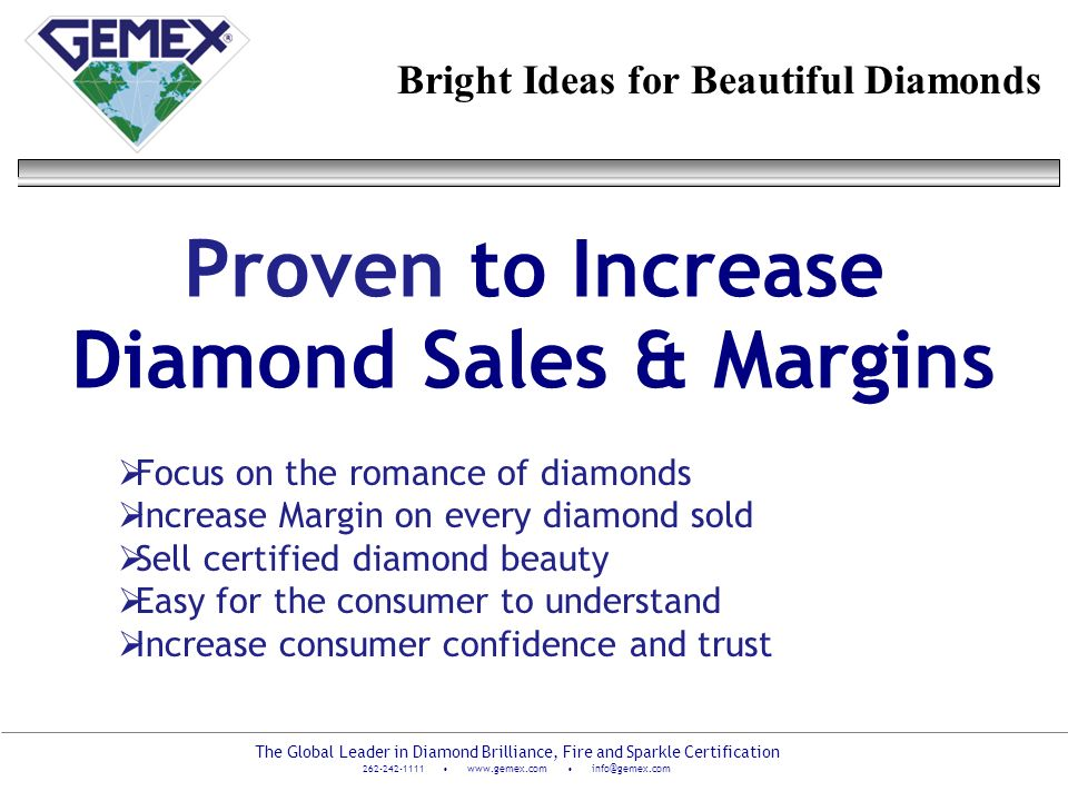 Proven to Increase Diamond Sales & Margins