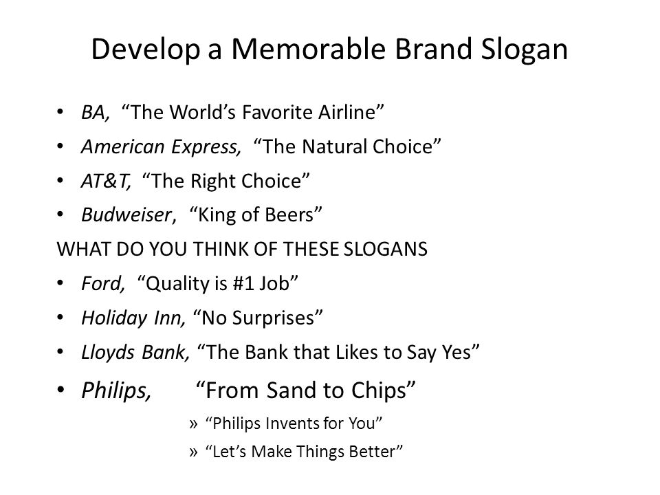 Develop a Memorable Brand Slogan