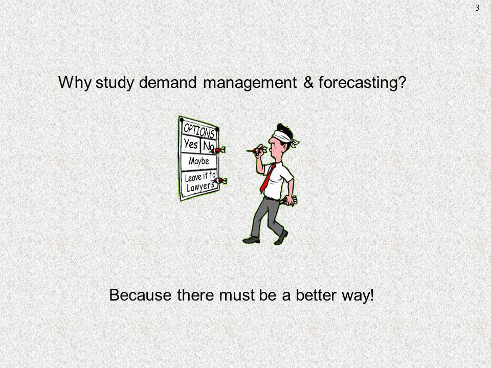Why study demand management & forecasting