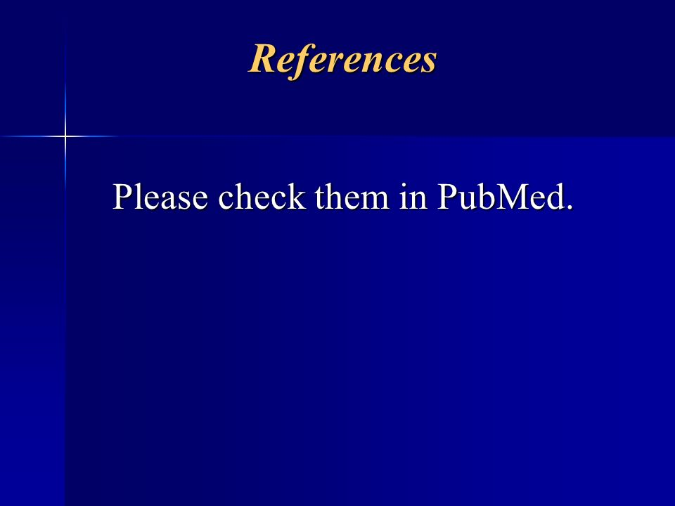 Please check them in PubMed.