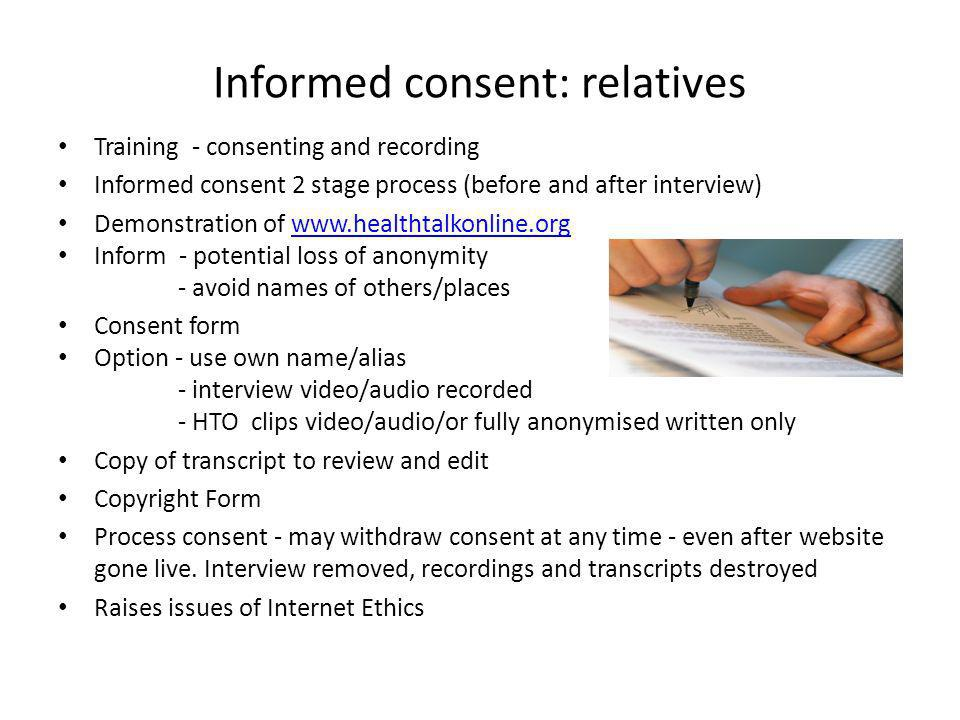 Informed consent: relatives