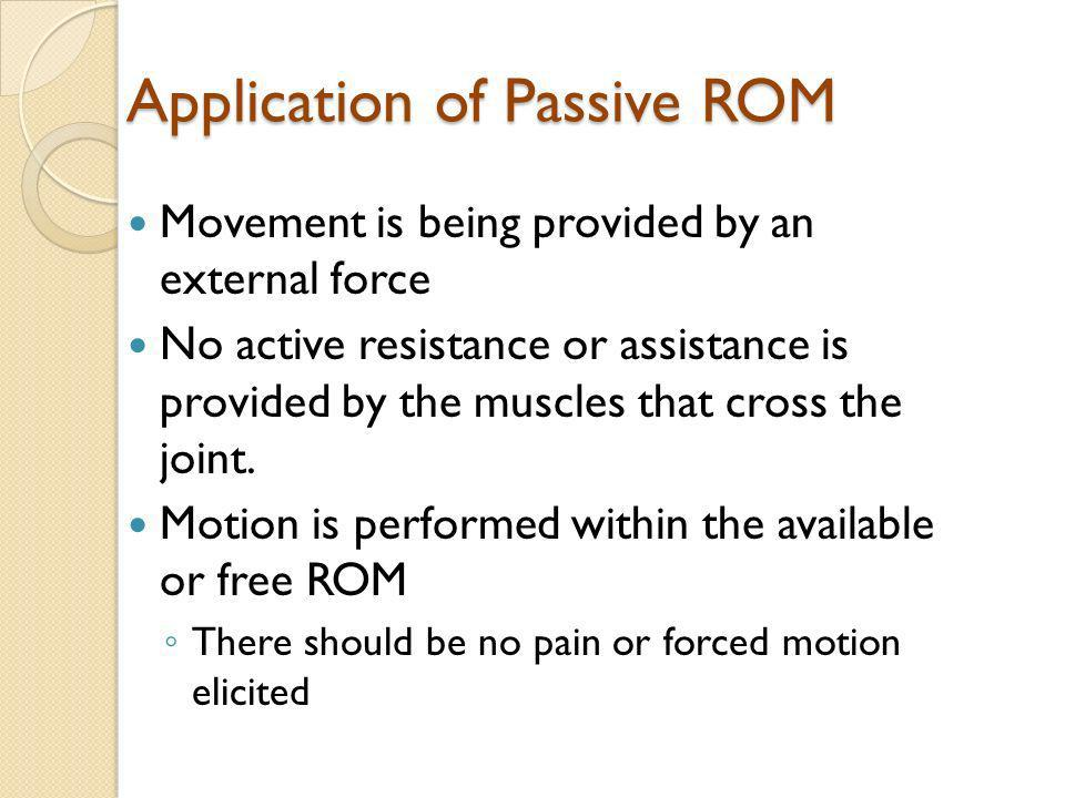 Application of Passive ROM