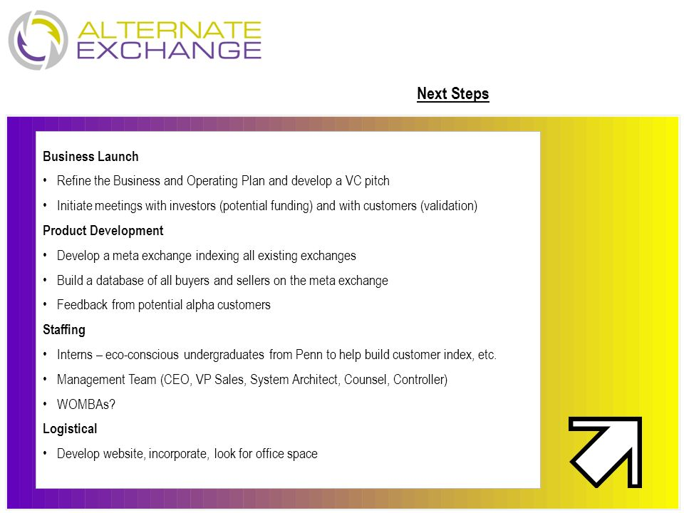 Next Steps Business Launch