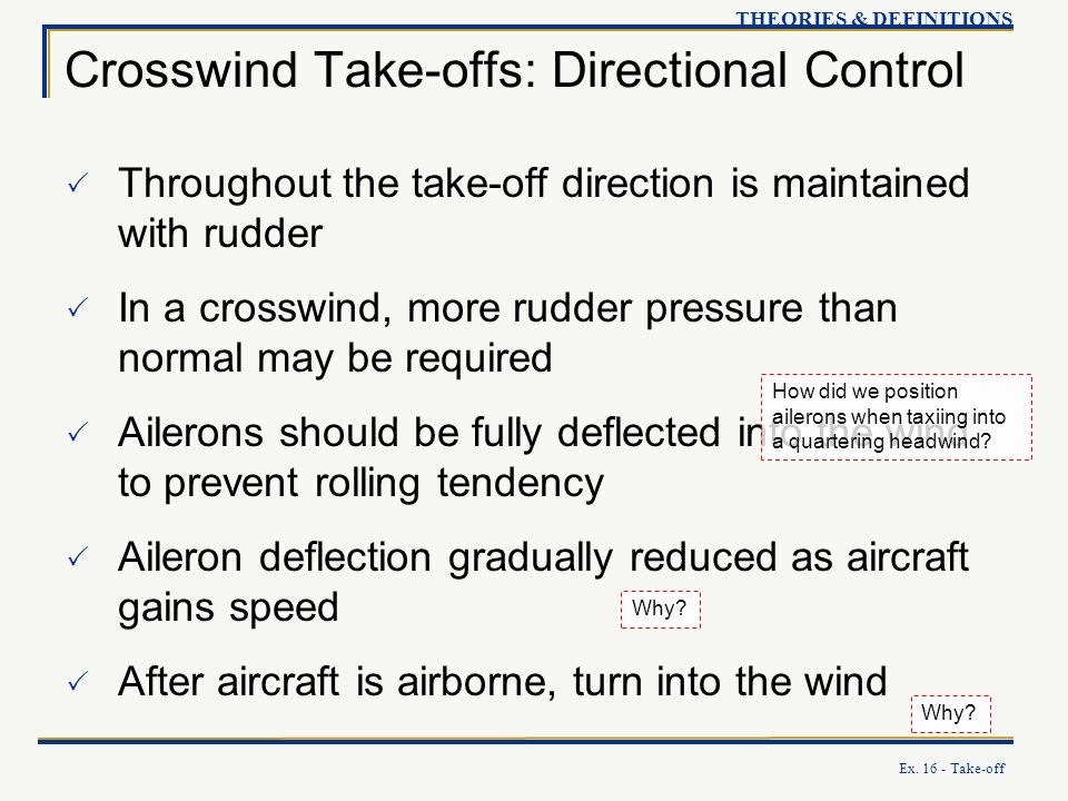 Crosswind Take-offs: Directional Control