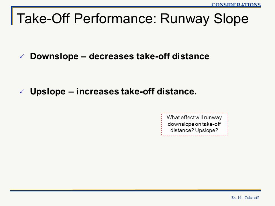 Take-Off Performance: Runway Slope