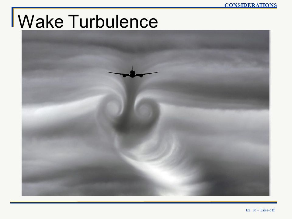 CONSIDERATIONS Wake Turbulence Ex. 16 - Take-off