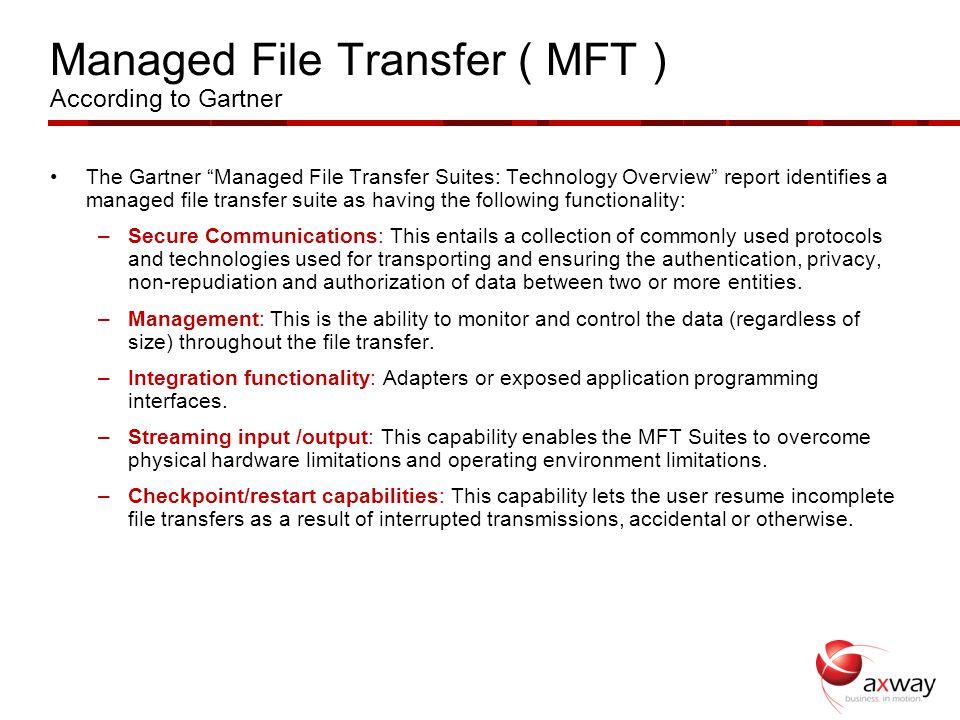 Managed file transfer gartner magic quadrant